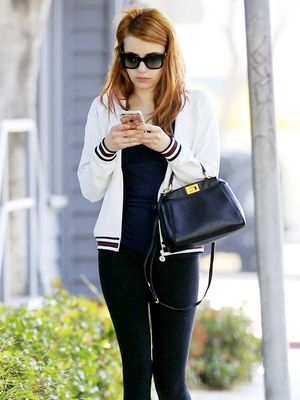 Emma Roberts Just Styled Her Leggings in the Cutest Way