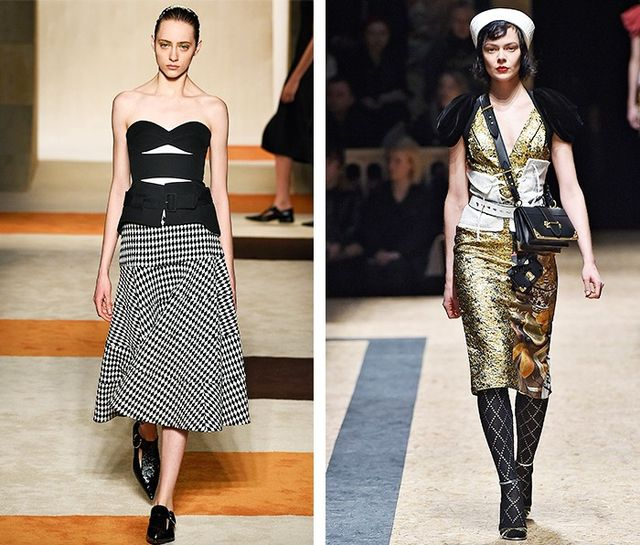 AW16 Fashion Trends on the catwalk at Victoria Beckham and Prada
