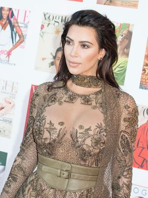 Only Kim Kardashian Could Get Away With Wearing This to the Movies