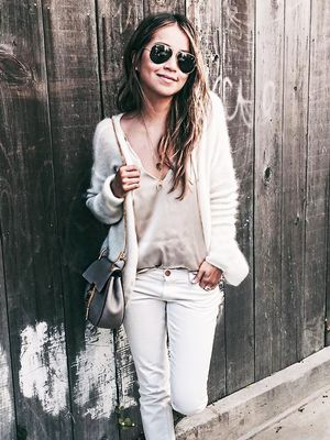 The 2016 Way to Style Your White Jeans