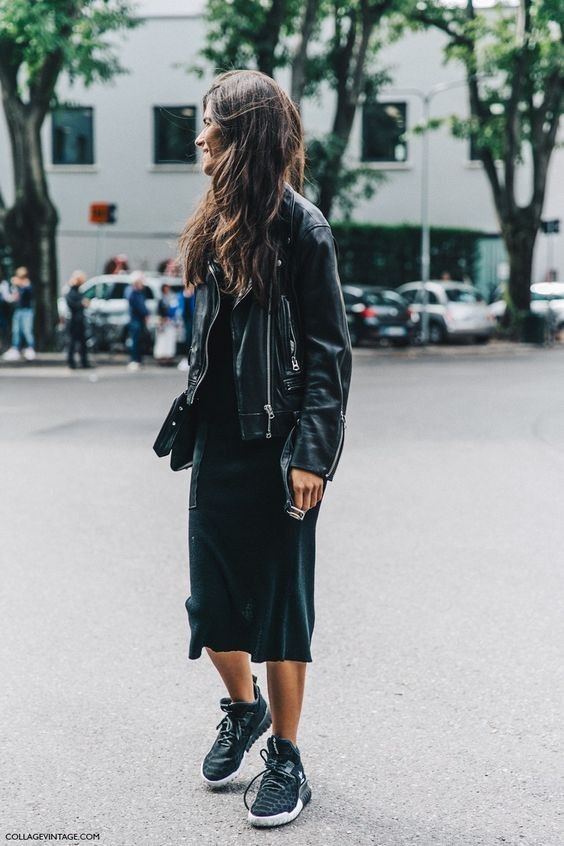 Black Slip + Biker Jacket