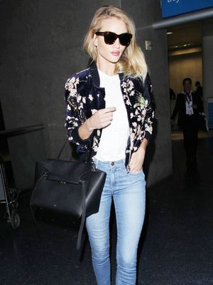 Rosie Huntington-Whiteley Just Wore a $2500 Jacket to Travel In