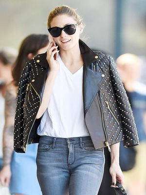 An Olivia Palermo Case Study in Styling a Basic White T-Shirt