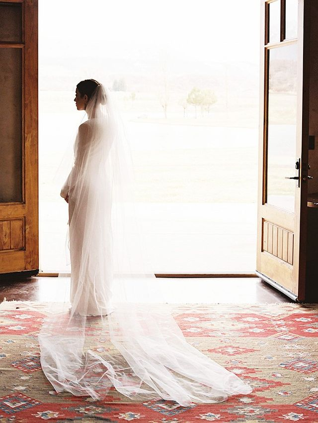 This vogue bride 39 s saint laurent gown is so flattering for Yves saint laurent wedding dress