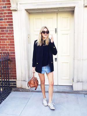 The Only Item You Need to Make a Denim Skirt Look Polished