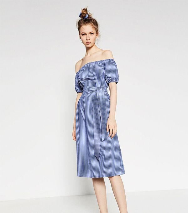 Zara Striped Midi Dress ( $70 ) ($50)