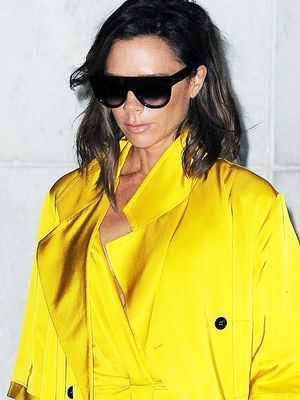 Whoa! Victoria Beckham Just Wore a Whole Lot of Yellow
