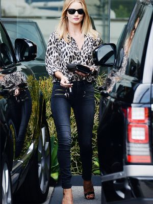 The Rosie Huntington-Whiteley Way to Update Your Skinny Jeans