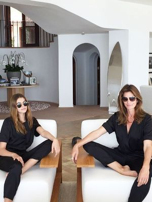 Cindy Crawford and Kaia Gerber Are Twinning in Matching Outfits