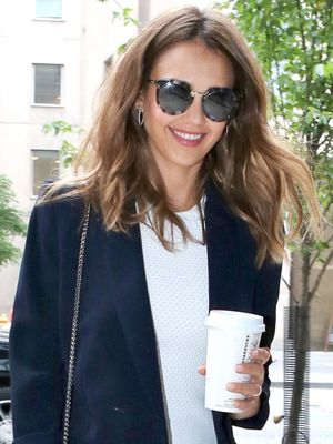 Jessica Alba's Outfit Is Understated—Until You Get to Her Shoes