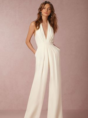 Would You Ever Wear a Jumpsuit to Your Wedding? This Bride Nailed It