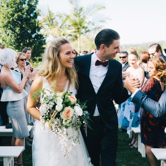 The Aisle: Inside This Young Couple's Beautiful Byron Bay Wedding