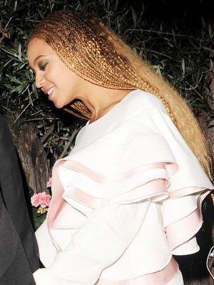 The Designer Behind Beyoncé's Ruffled Date-Night Dress
