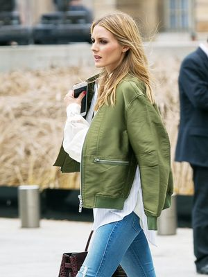 How Olivia Palermo Styles Flats for a Casual Day in Paris