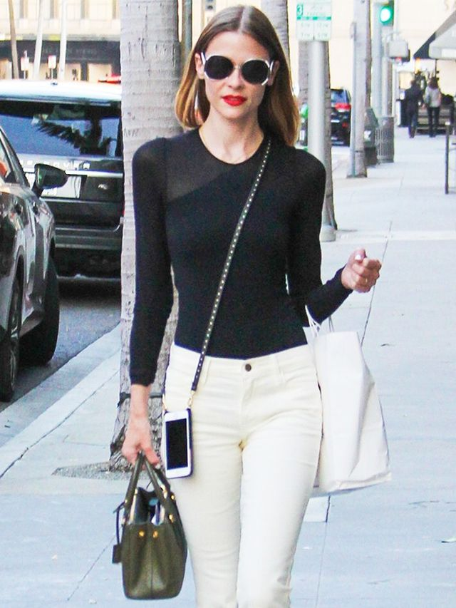 Jaime King Took Her White Jeans to the Next Level | WhoWhatWear