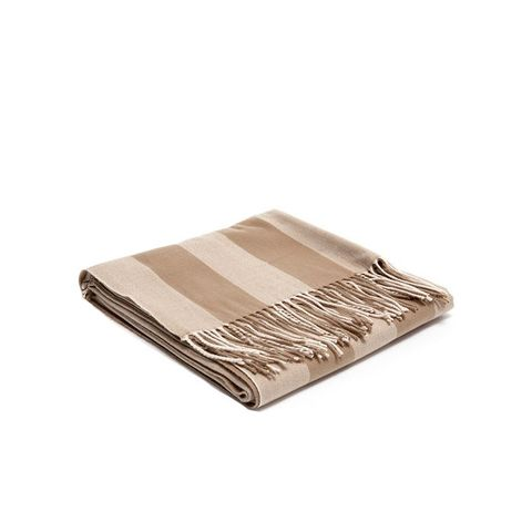 Brown Striped Acrylic Throw