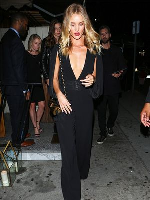 The Unique Piece Rosie Huntington-Whiteley Wears on a Night Out