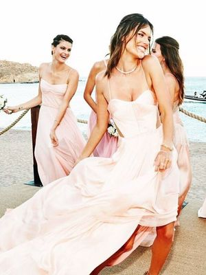 This Victoria's Secret Model Had the Chicest Mismatched Bridesmaids