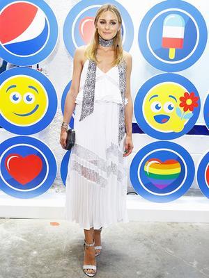 The Unique Way Olivia Palermo Accessorized Her Self-Portrait Dress