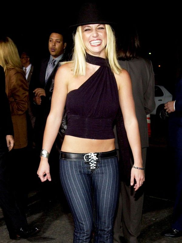 00s fashion trends:  Britney Spears lace up trousers