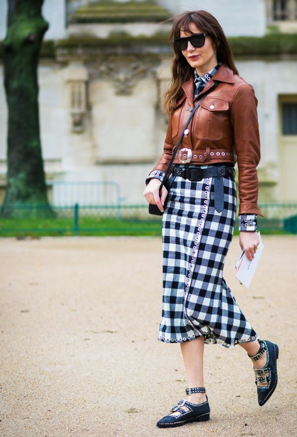 Try the trend now by throwing a brown suede or leather jacket on over a summer dress.
