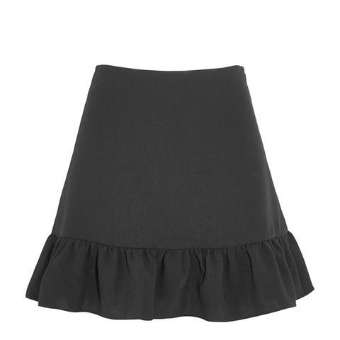 Piper Ruffled Crepe Mini Skirt