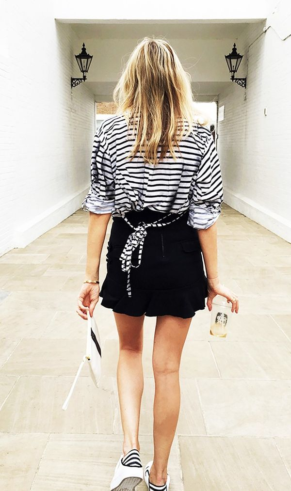 7. Perfecting the way you cuff your sleeves is a must. Need some inspiration? Try our J.Crew-approved tutorial. On CamilleCharrière: Alexander McQueen top; Isabel Marant skirt;...