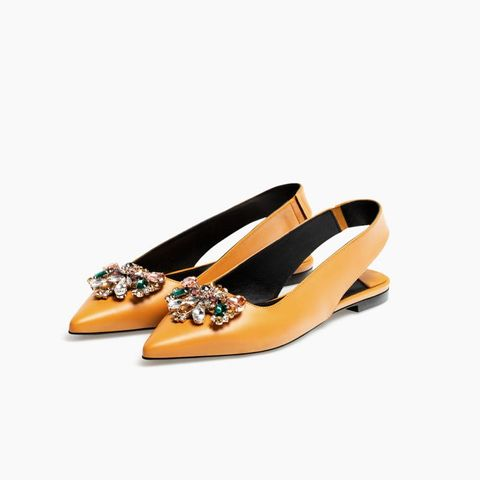 Gem Leather Ballet Flats