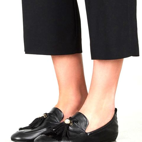 Black Tasselled Leather Loafers
