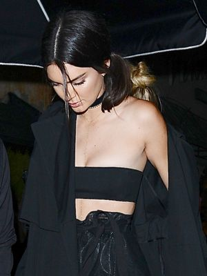 Kendall Jenner Wore a Sheer Skirt and Bandeau Top to Kylie's Birthday Party