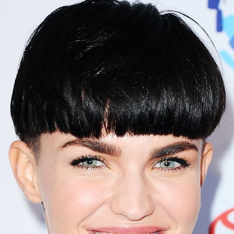 This unconventional short hairstyle, as seen on Ruby Rose, is easy to pull off when you've got an amazing face and incredible eyebrows