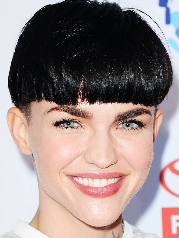 This unconventional short hairstyle, as seen on Ruby Rose, is easy to pull off when you've got an amazing