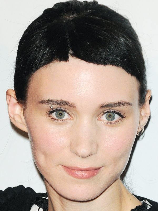 Rooney Mara's short hairstyle with a short fringe is a quirky take on the style