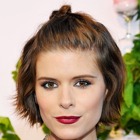 Short hairstyles: Kate Mara is the queen of this look. We love this half up 'do.