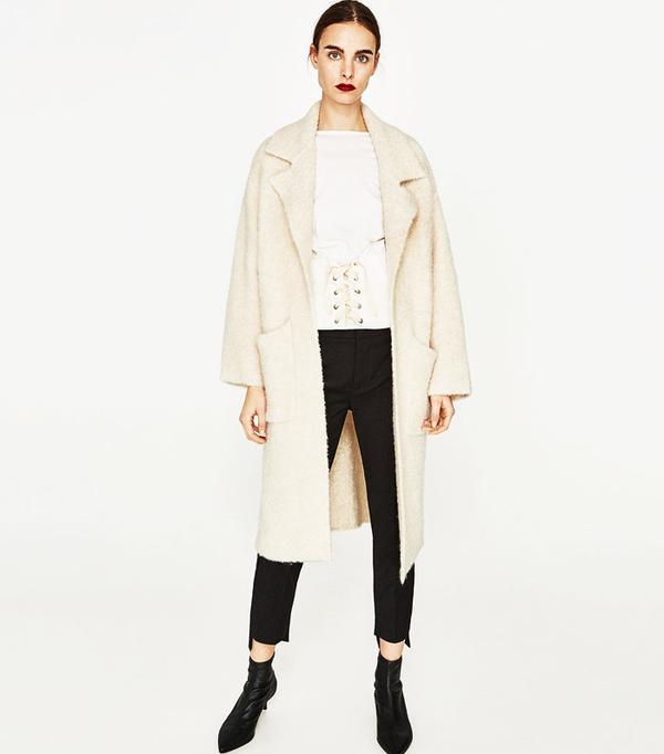 Best Winter Coats: Zara Soft Knit Coat