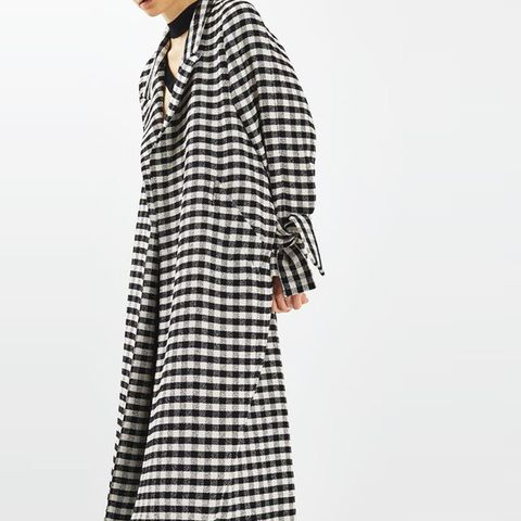 Gingham Duster Coat by Boutique