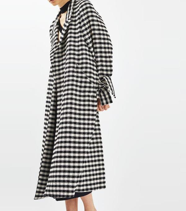 Best Winter Coats: Topshop Gingham Duster Coat by Boutique