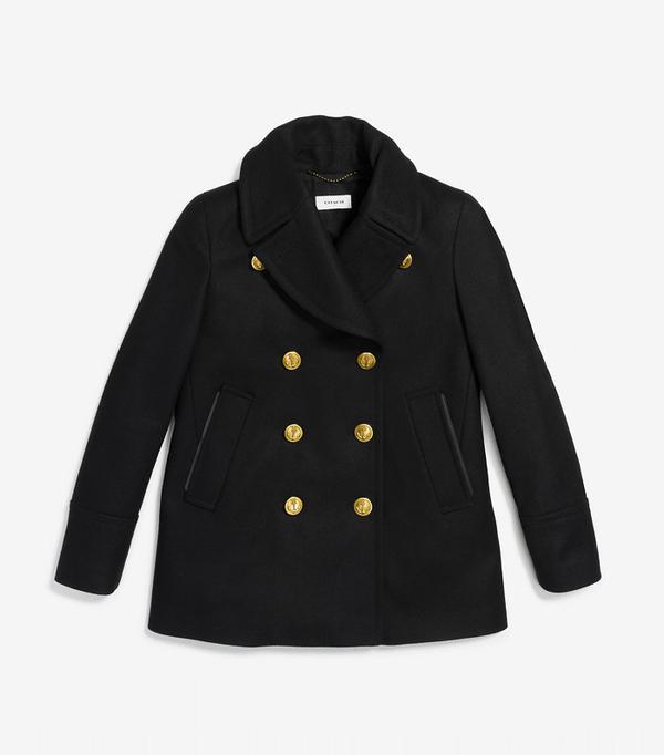 Best Winter Coats: Coach Solid Peacoat