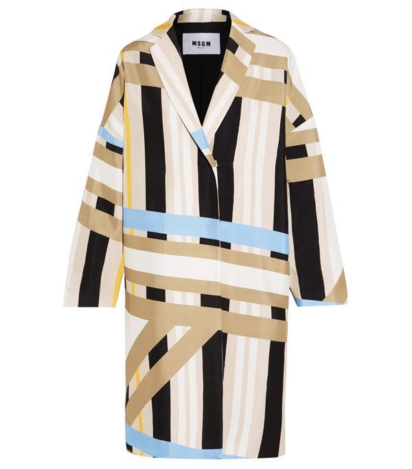 Best Winter Coats: MSGM Printed Crepe Coat