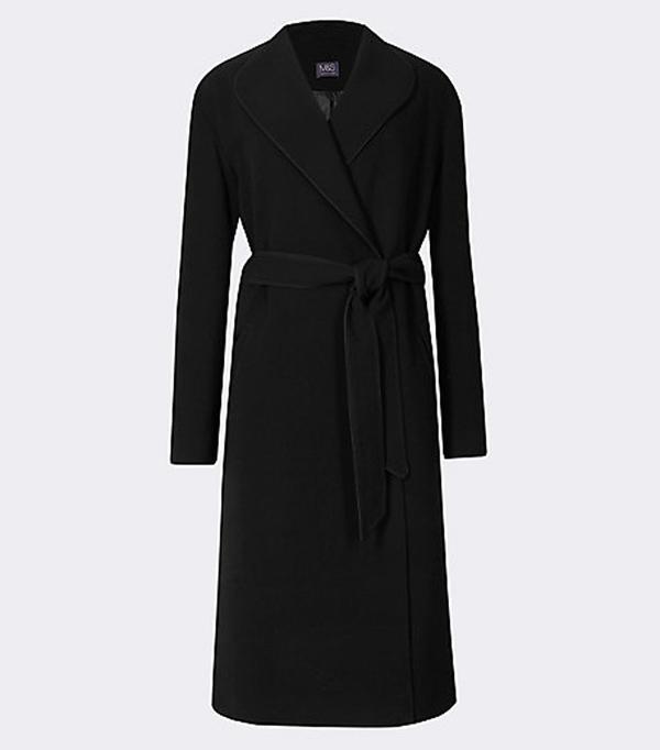 Best Winter Coats: Marks & Spencer Tie Belt Over Coat