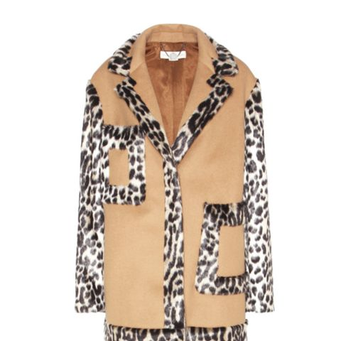 Wool-Blend and Faux-Fur Coat