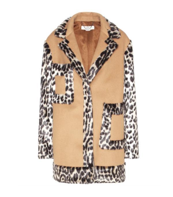 Best Winter Coats: Stella McCartney Wool-Blend and Faux-Fur Coat