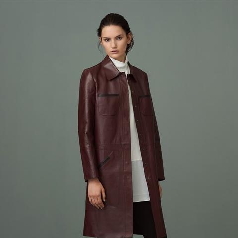 Fanshaw Bonded Leather Coat