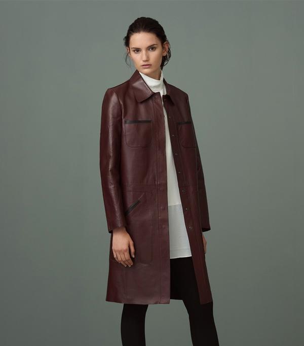 Best Winter Coats: Finery Fanshaw Bonded Leather Coat