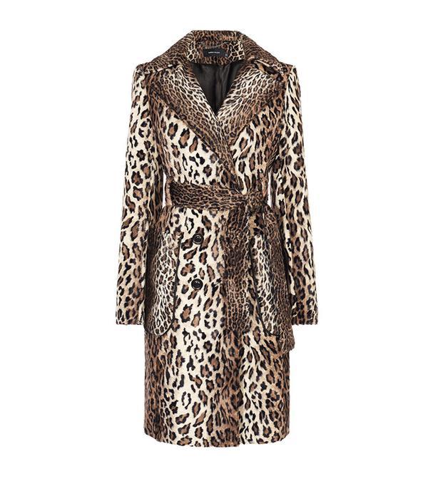 best winter coats: Karen Millen Faux-Fur Leopard Coat