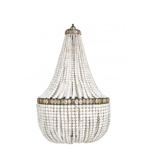 White Turquoise Empire Chandelier
