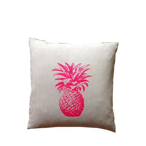 Pink Pineapple Linen Pillowcase