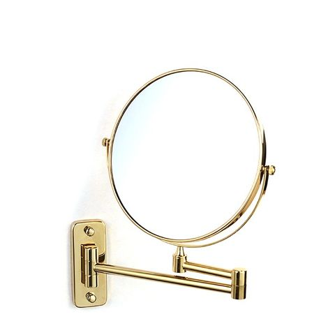 Solid Brass Gold Extend Arm Shave Mirror