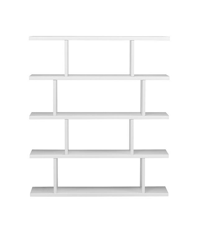 modern white bookcase