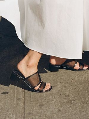 Meet Your New Shoe Crush: The Black Mesh Sandal